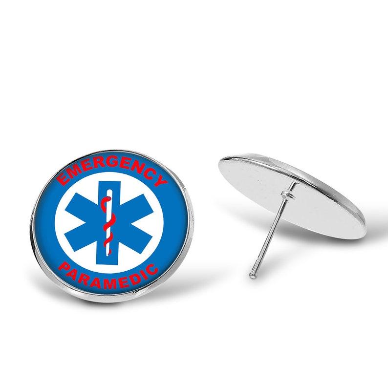 Pendant KeyRing Paramedic \u2022 Star Of Life \u2022 Jewelry Sets Earrings Drop Earrings KeyChain Finger Ring Tie Clip Cufflinks Necklace