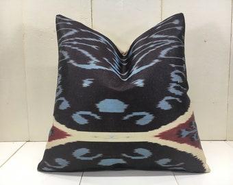 silk ikat pillow cover handwoven silk cushion decorative pilow modern pillow cover soft color accent pillows home decor home living 16x16