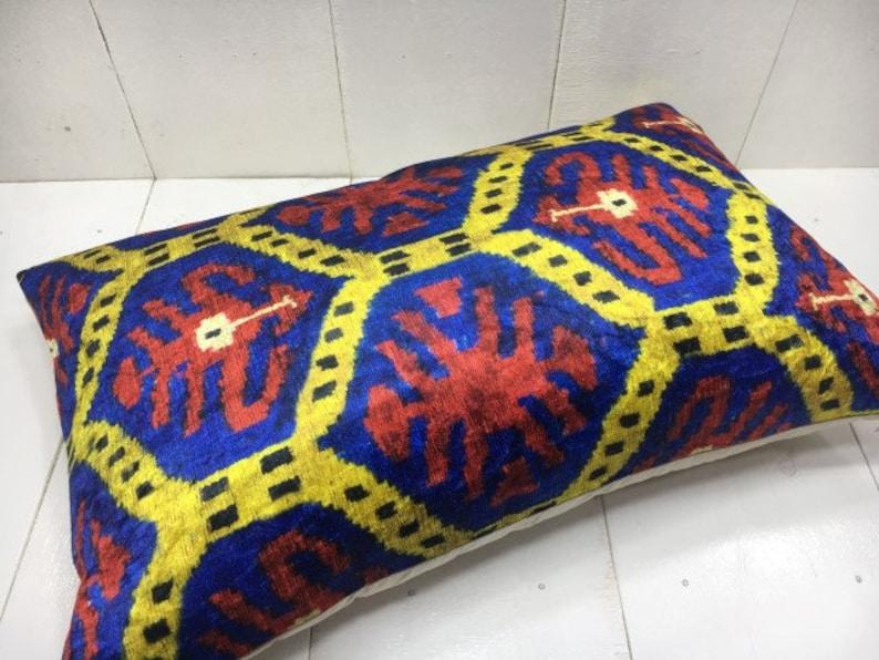 accent pillows home decor home living Velvet ikat pillow handwoven silk pillow 16x24 cushion cover beeding pillow decorative pilow