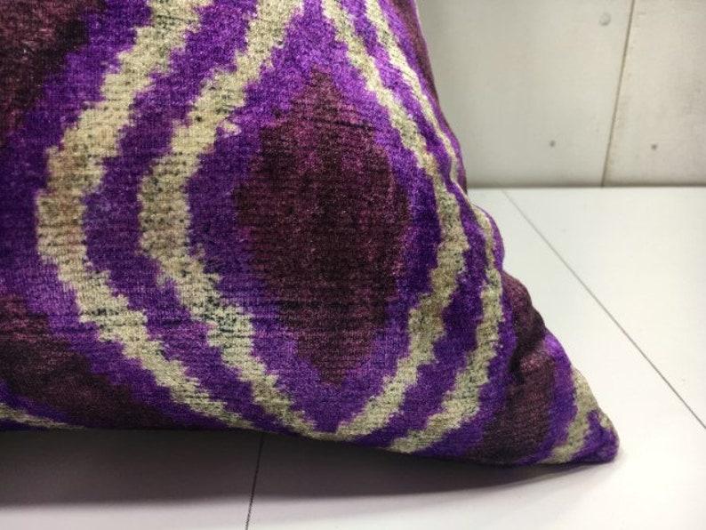 silk pillow 24x24 velvet pillow cover handwoven cushion decorative pilow modern pillow cover accent pillows home decor home living