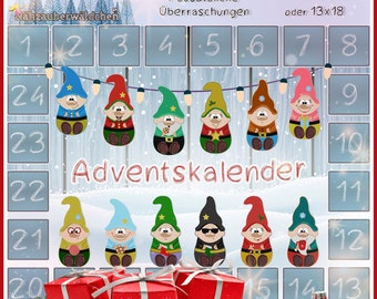 """Advent Calendar Embroidery Files 10x10 13x18 ITH Appli Embroidery Pattern in the hoop 4x4"""" 5x7"""" softie stuffie digital embroidery design"""