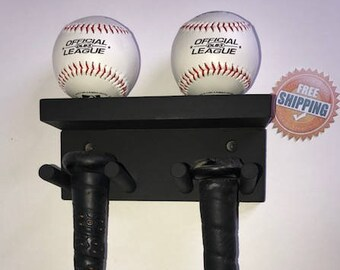 Rack Glove /& Cap Holder Bat Wooden Glove Shaped Baseball