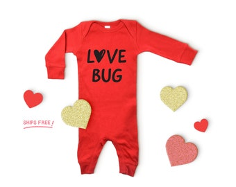 Re Baby Infant Toddler Boys Valentines Day Love Hearts Truck One-Piece Longall