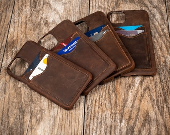 iPhone 12 case, iPhone Wallet with Credit Card Slots, Leather iPhone Case, iPhone 12 Pro Max, iPhone 12 Pro, iPhone 12 mini, iPhone 11 Pro