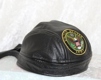 f25e130f06f Army Leather Adult Skull Cap