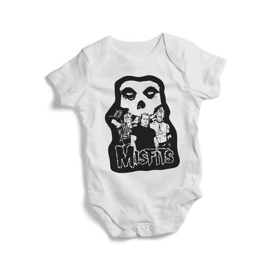 THE MISFITS BABY ONE PIECE CREEPER purple logo T-SHIRT PUNK ROCK METAL NEW