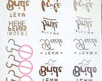 75039751a2bf4 16 Pack Bachelorette Tattoos| Same Penis Forever| Team Bride Tattoo| Naught  Party Tattoo| Temporary Tattoo| Hen Party Tattoos Party| Favors