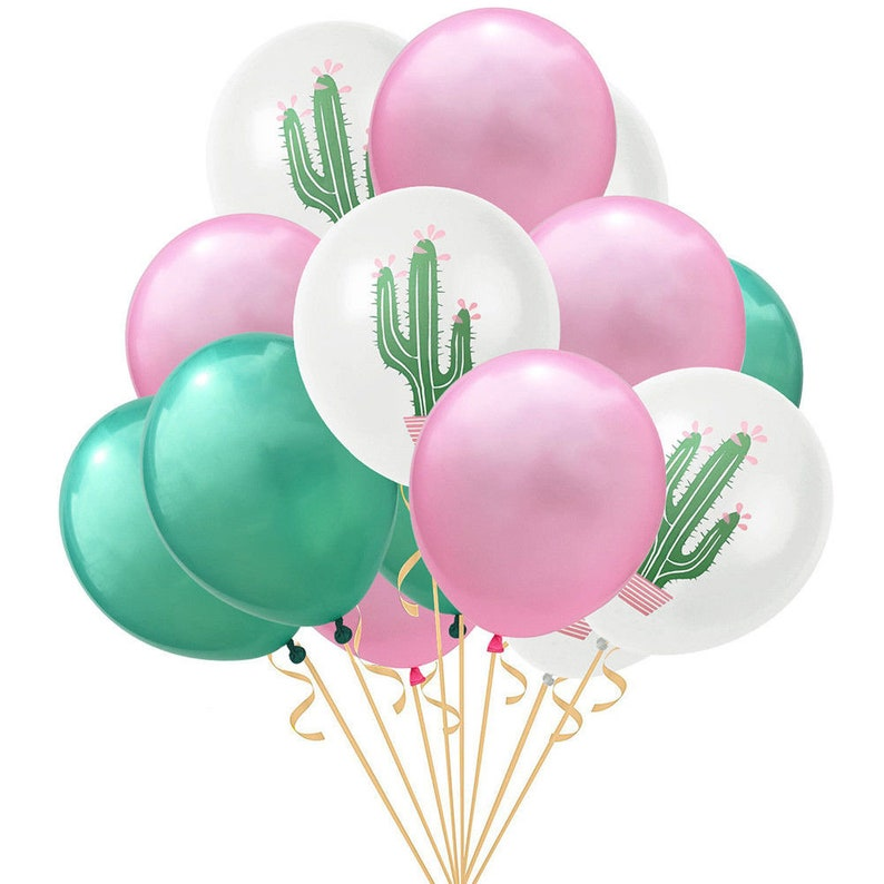 "15PC 12/"" Flamingo Cactus Pineapple Latex Balloon Baby Shower Wedding Party Decor"