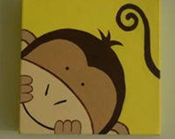 Cute monkey paintings