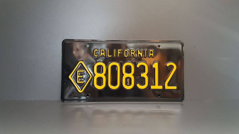 California E Diamond Retro Vintage Exempt US USA License Plate Embossed Custom Alu Made in Germany Express Shipping