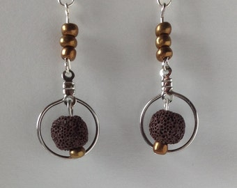 Halo Diffuser Earrings-Brown