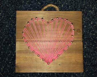 Customizable Heart Hanging String Art