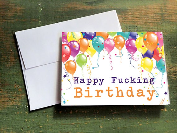 Adult Naughty Dirty Birthday Card Happy For