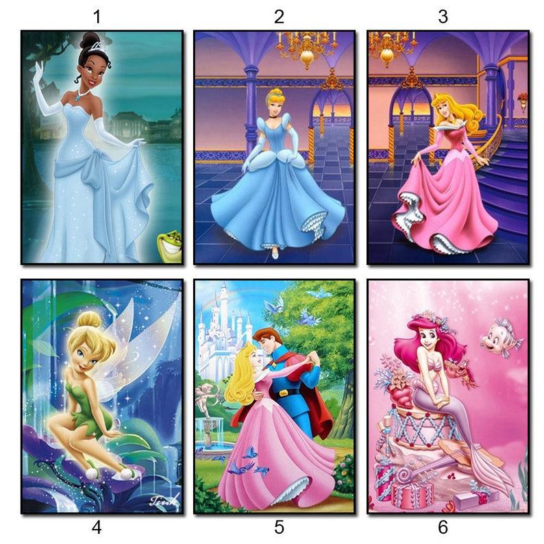 5d Diamond Embroidery Kits Cross Stitch Disney Princess Home