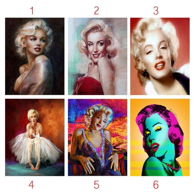 5D DIY Diamond Painting Full Square Drill Marilyn  19866de0c7b5