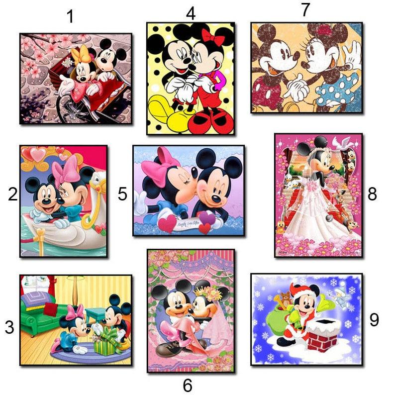3e7bdac888 Disney Mickey Mouse 5d diamond embroidery kits cross-stitch | Etsy