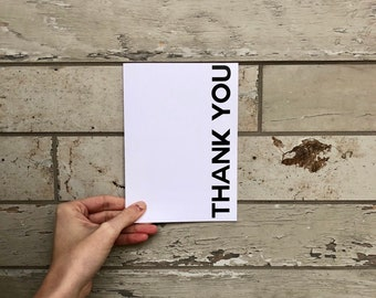 Reversible Thank You Card