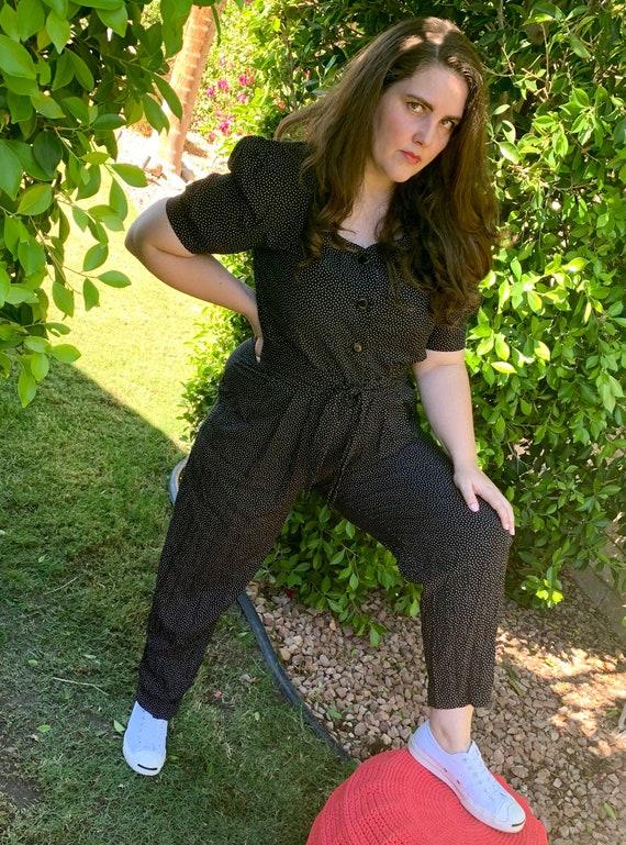 80's polka dot jumpsuit
