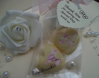 50 bags of medium solid heart chocolate marshmallow favours/wedding/birthdays/events personalised