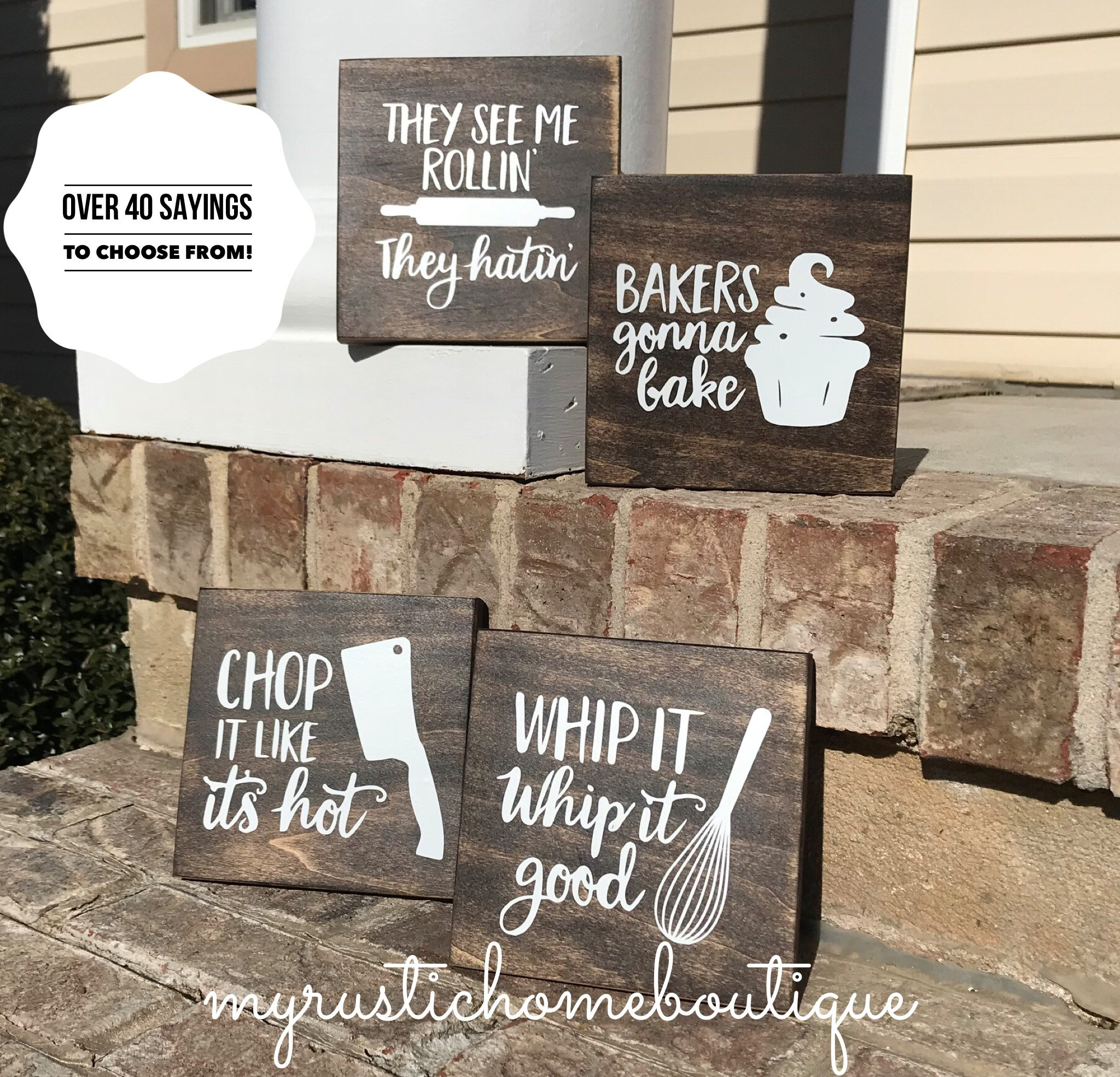 Funny Kitchen Signs: Kitchen Decor Funny Kitchen Signs Baker Decor Rustic Decor