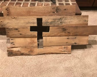 Upcycled Pallet Wood Cross Decor