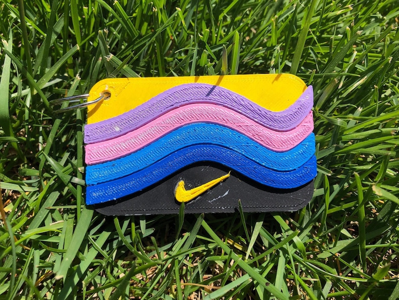 3a2d7521de685a 3D PRINTED Sean Wotherspoon Air Max 97 1 Keychain UPDATED