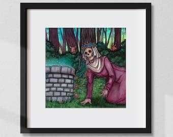"""Art Print """"The Skull"""" 20 x 20 cm"""
