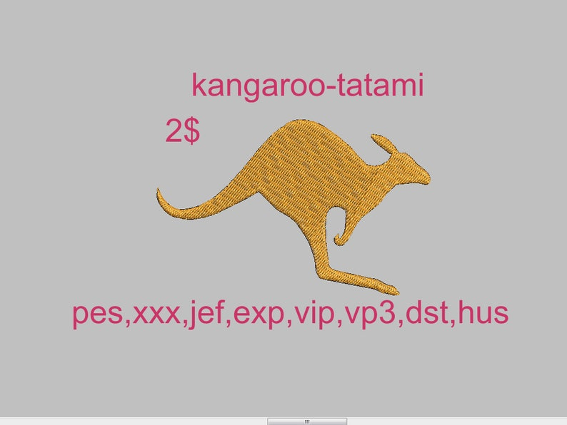 Kangaroo Embroidery Design Machine Embroidery Design Etsy