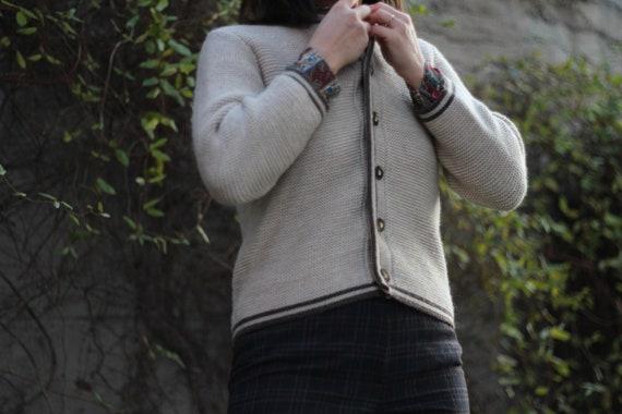 Vintage women traditional Austrian wool cardigan,… - image 3