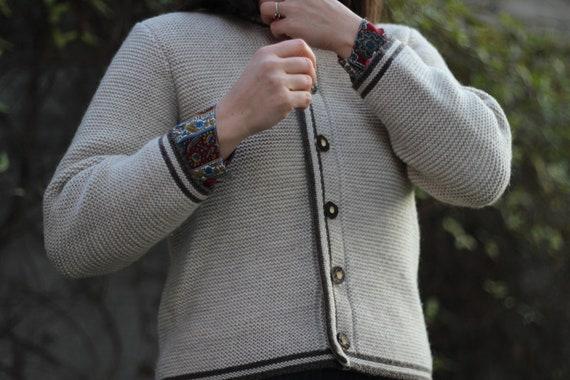Vintage women traditional Austrian wool cardigan,… - image 4