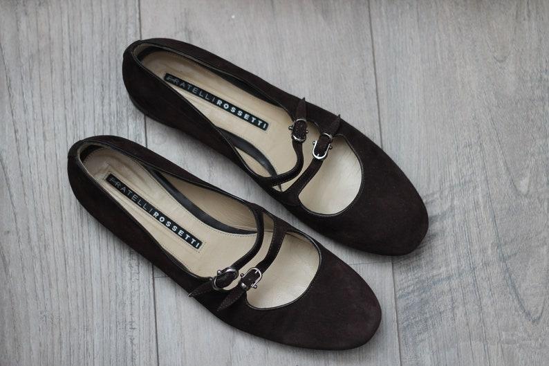 f5122eb86 Vintage Designer Ballet Flats in Brown Color Fratelli Rossetti