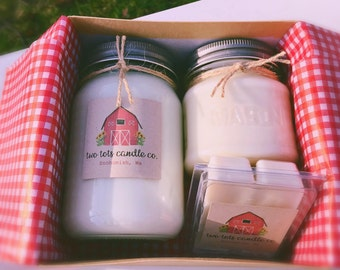 Handmade/All Natural Soy Wax/Candle/GiftBox