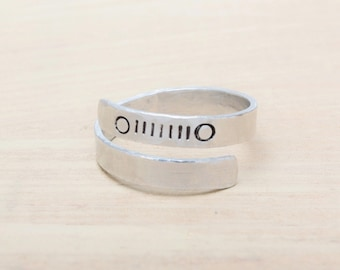Jeep Inspired Grill Ring - Hand Stamped - Jeep Jewelry - Jeep Girl - Jeep Ring