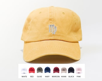 Virgo  Zodiac Sign Hat / Custom Embroidered Hat / Hats for Men / Hats for Women / Gifts For Men / Gifts For Women / Free Shipping