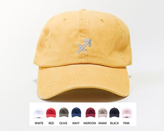 Saggitarius Zodiac Sign Hat / Custom Embroidered Hat / Hats for Men / Hats for Women / Gifts For Men / Gifts For Women / Free Shipping