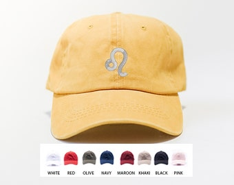 Leo Zodiac Sign Hat / Custom Embroidered Hat / Hats for Men / Hats for Women / Gifts For Men / Gifts For Women / Free Shipping