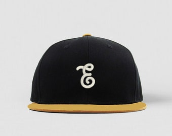 Black and Gold Embrogo Brand Logo Hat / Snapback Hat / Machine Embroidery / Hats for Men / READY TO SHIP