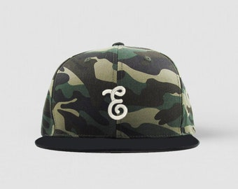 Camo and Black Embrogo Brand Logo Hat / Snapback Hat / Machine Embroidery / Hats for Men / READY TO SHIP