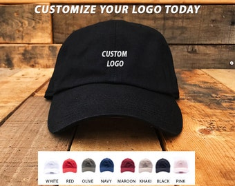 Custom Embroidered Hats   Dad Hat   Embroidery Baseball Cap   Personalize  Your Hat   Make Your Statement   Black Dad Cap   FREE SHIPPING 51546bb79381