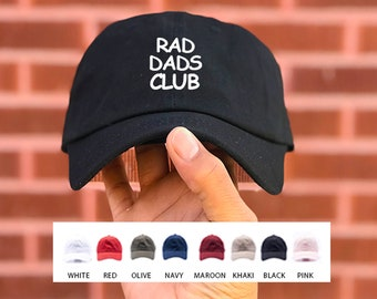 801270e6 Fathers Day Gift / Rad Dads Club Hat / Custom Machine Embroidery / Dad Gift  / READY TO SHIP / Free Shipping