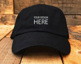 bb0678e1689 Custom Embroidered Hats   Dad Hat   Embroidery Baseball Cap   Personalize  Your Hat   Make Your Statement   Black Dad Cap   FREE SHIPPING
