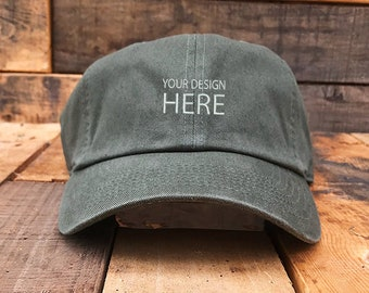 597320b2e69 Custom Embroidered Hats   Dad Hat   Embroidery Baseball Cap   Personalize  Your Hat   Make Your Statement   Olive Dad Cap   FREE SHIPPING