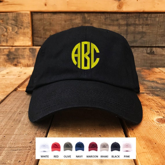 60e878dd8bc Monogrammed Baseball Cap   Machine Embroidery Dad Hats   Caps