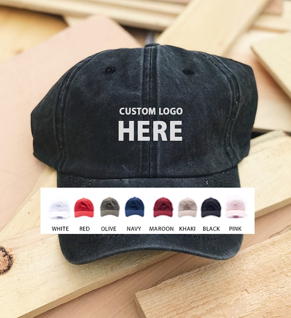 Custom Embroidered Hats / Dad Hat / Embroidery Baseball Cap / Personalize  Your Hat / Make Your Statement / Black Dad Cap / FREE SHIPPING