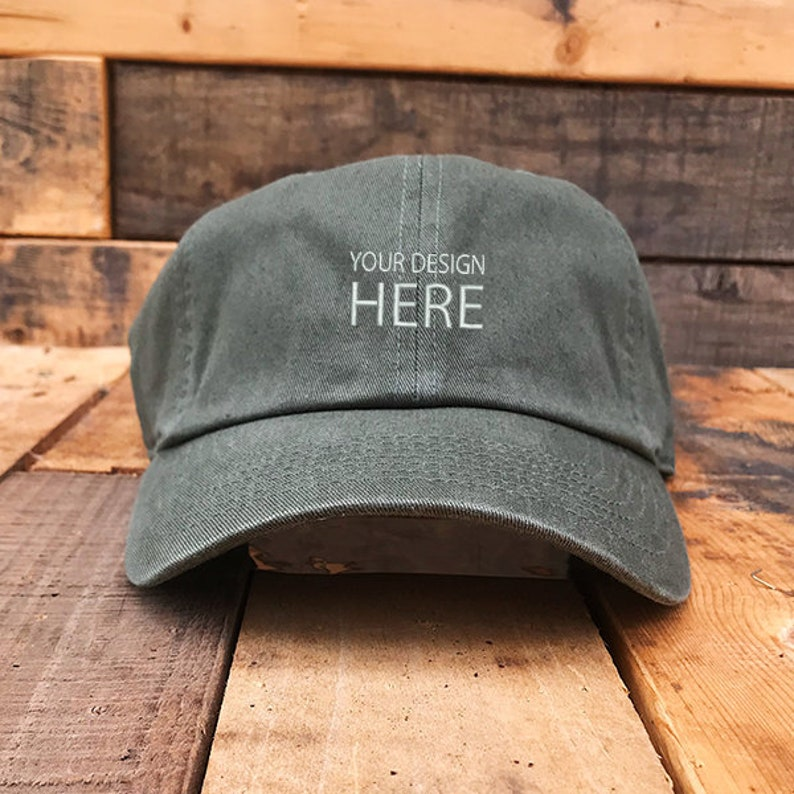 Custom Embroidered Hats / Dad Hat / Embroidery Baseball Cap / Personalize  Your Hat / Make Your Statement / Olive Dad Cap / FREE SHIPPING