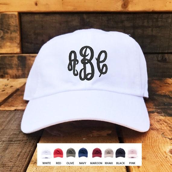 7c612002727 Custom Monogrammed Hat   Custom Embroidered Hats   Dad Hat