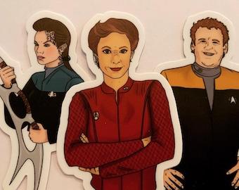 Star Trek DS9 - Die Cut lil Sticky Pack - with bonus Rikey.