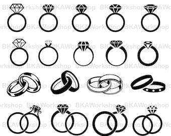 Ring svg - Ring diamond svg - Ring wedding svg - Ring wedding digital clipart for Design or more,file download eps, png, jpg, svg