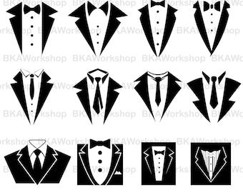 Tuxedo svg - Tuxedo vector - Tuxedo bundle - Tuxedo digital clipart for Design or more,files download svg, png,dxf