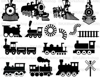Train svg - Train Silhouette clipart - Train vector - Train Silhouette digital clipart for Design or more, files download eps, png, jpg, svg